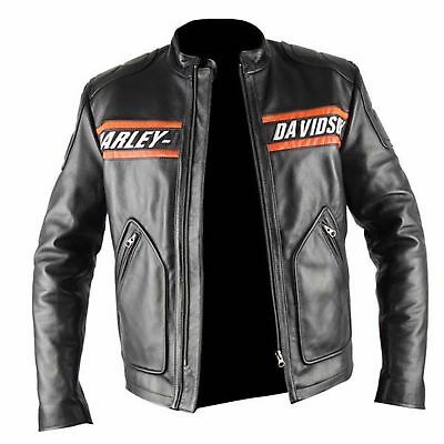 WWE Bill Goldberg Harley Davidson Biker Vintage Motorcycle Leather Jacket