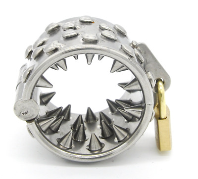 *** New Kalis Teeth Ring Of Spikes Male Chastity Device Crown Of Thorns Cbt ***