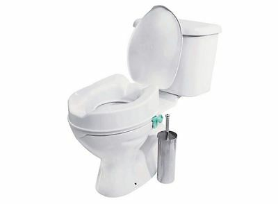 Raised Toilet Seat With Lid Mobility Helper Living Assistance Assistant Elderly