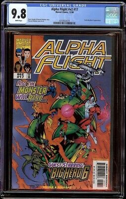 Alpha Flight vol 2 # 17 CGC 9.8 White (Marvel, 1998) Early Big Hero 6 appearance