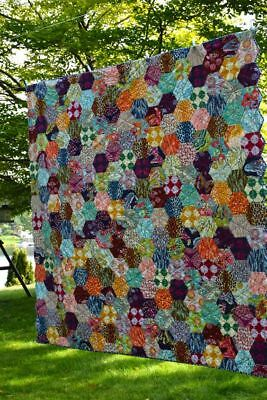 """Hexagon template set for patchwork & quilting. Sizes 1"""" to 5"""" in the set."""