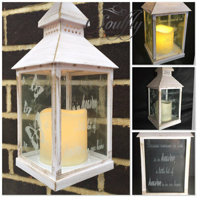 Engraved LED candle LANTERN, memorial, gift, etched, personalised, wedding