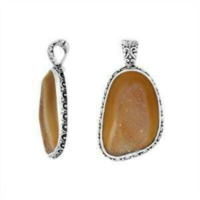 Sterling Silver Beautiful Fancy Pendant With Drusy & Enhancer Pendant Bail AP-90