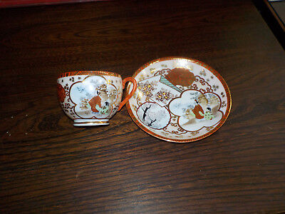 Antique  Cup & Saucer Handpainted by Master Artist (to the Emporer) Taniguchi