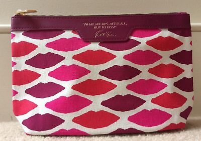 Brand New Estee Lauder Red & Pink Makeup Toilettries Bag_Lips To Kiss Design
