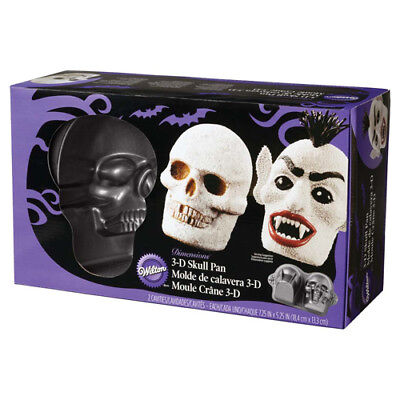 Wilton 3D Skull Pan for Halloween Cakes Zombie Vampire Spooky Horror Party