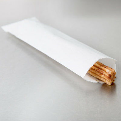 White Disposable Silverware Churros, Petzel Rods Snack Bags 50 Count