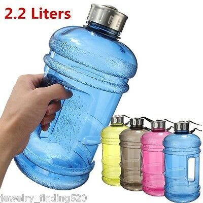 Sport BPA Free Plastic Big Large Gym Sport Water Bottle Outdoor Picnic Kettle