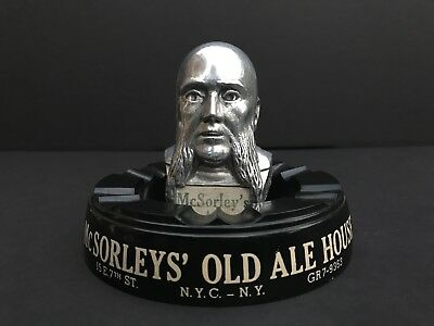 Rare, Vintage McSORLEY'S ASHTRAY and TAP HEAD / New York City 1930's - 1940's