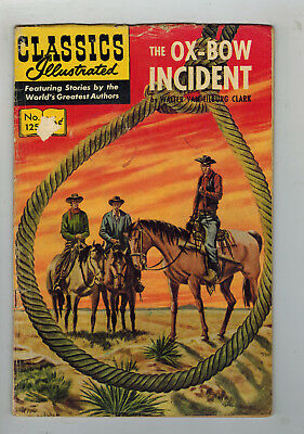 CLASSICS ILLUSTRATED COMIC No. 125 The Ox-Bow Incident - 15c HRN 167
