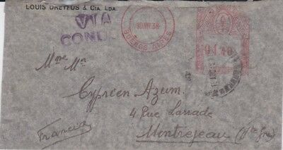 Argentina-1938 Condor Airline flown Louis Dreyfus, Buenos Aires cover to France