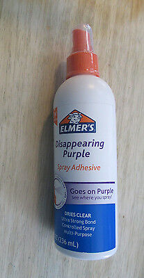 New! Elmer's Disappearing Purple Spray Adhesive 8 oz. Free Shipping