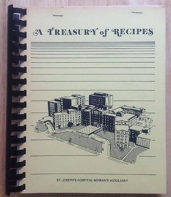 1970s ST. JOSEPH'S HOSPITAL AUXILIARY COOKBOOK, MILWAUKEE, WI