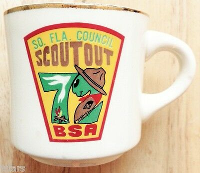 1972 South Florida Council Scout Out Coffee Mug, Boy Scouts Of America, Bsa, Fl