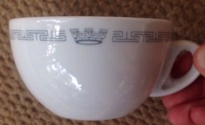 1960s - 1980s HOME LINES OCEANIC PATTERN CRUISE SHIP RESTAURANT WARE COFFEE CUP