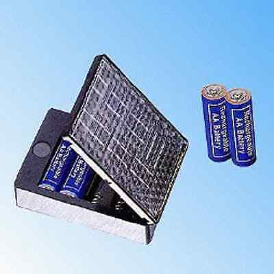 Solar  Aa  Battery Charger ,ideal For Recharging On Holiday ,camping Etc