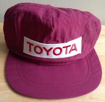 1980s TOYOTA BASEBALL CAP, RED WINE PURPLE COLOR, ADULT SIZE, NEW, VINTAGE
