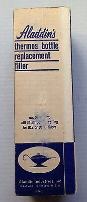 Aladdin Thermos Vacuum Bottle Replacement Filler, 012B, Pint, New, Nos, Vintage