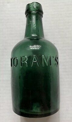 EARLY GRAPHITE PONTIL Soda Bottle Circa 1830 7 Inches Tall