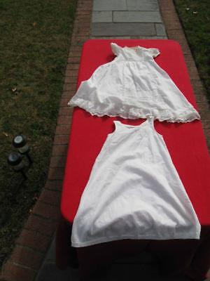 Antique Christening Dress With Slip