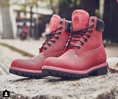 "Timberland Youth 6"" Premium Exo Web Tech Waterproof Boots Red TB0A14IY Juniors"