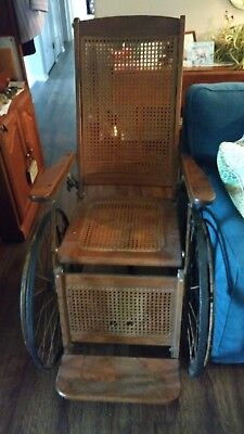 Antique Gendron Wheel Chair with Bench Bottom