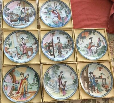 Imperial Jingdezhen Porcelain Plate 8 Piece Set – Beauties Of The Red Mansion