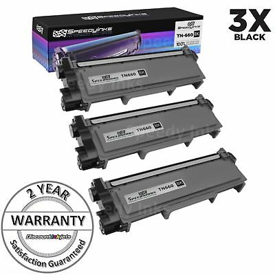3 High Yield Black Toner Cartridge TN660 HL-L2300D For Brother DCP-L2540DW TN630