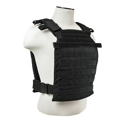 NcStar MOLLE Modular Fast Sentry Tactical Lightweight Plate Carrier Vest