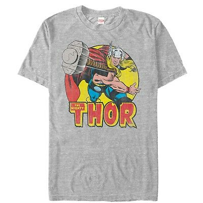 23a181ab MARVEL MIGHTY THOR Hammer Throw Mens Graphic T Shirt - $25.99 | PicClick