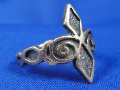 "Vintage Scottish ""M.C."" Celtic Sterling Silver Ring ~ Size 7"