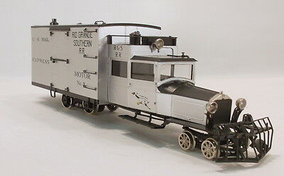 On3 BRASS PSC RIO GRANDE SOUTHERN FREIGHT GOOSE # 2 W/PIERCE ARROW BODY FAC PTD