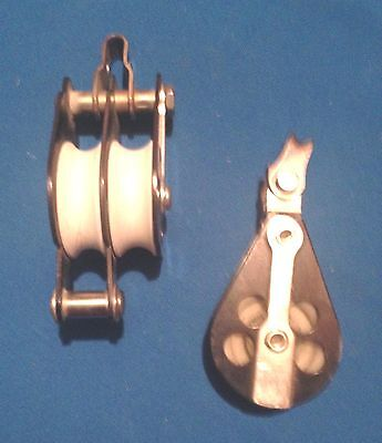 Schaefer block set, Double pulley with becket plus a single  pulley