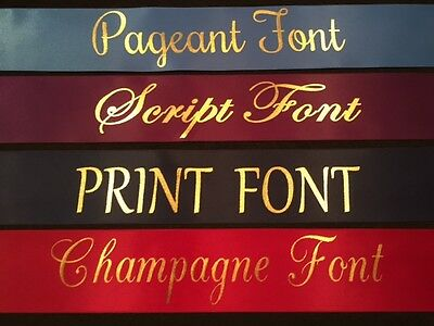 Set of 4 Adult Size Sashes PAGEANT lettering