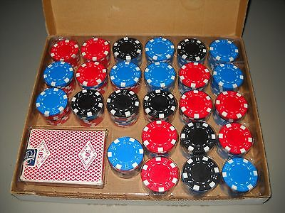 196 Cosco Poker Chips & Gaming Bee Cards Vintage Original Table Accessories