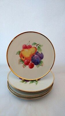 "Set of FIVE NC Germany NCW1 Fruit Pattern Salad Plates - 7 7/8"" Diameter"
