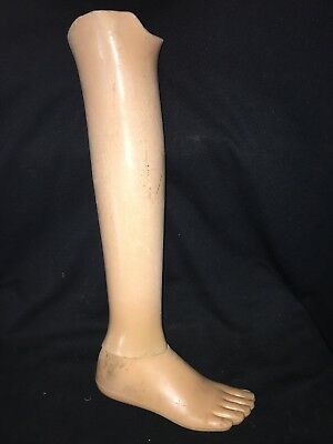 "1950's 18 1/2"" Womans Artificial Prosthetic Leg"