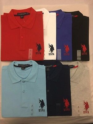 US POLO ASSN Mens Cotton Round Neck T Shirt Embroidered LogoSALEWas £26