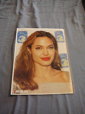 ANGELINA JOLIE PIN UP POSTER PHOTO AFFICHE DÉTACHABLE 7 JOURS 2006 7.5 x 10.5