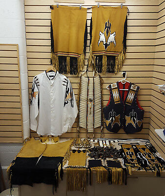 Nice Hand Crafted 19 Pc.ribbonwork Native American Indian Traditional Dance Set