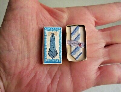 Dollhouse Miniature ~ Men's Silk Tie In Box
