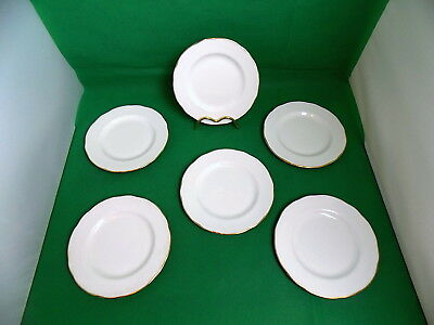Duchess China White / Gold Side Plates x 6