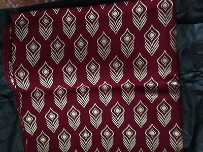 NEW Rachel Zoe Box of Style Symbology Scarf Red & Gold Print