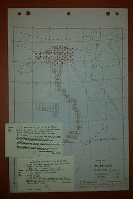 1942-50 Army Map Collection Egypt 47 Sheets Nile Suez Cairo vintage military