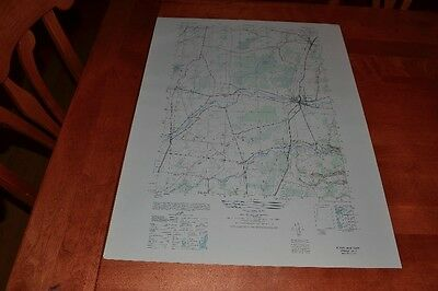 New York vintage 1940's Army topographic map, Adams NY