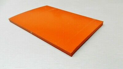 "Silicone Rubber Sheet 4x6x1/4 Thick High Temp Solid Red/Orange Grade 4"" x 6"""