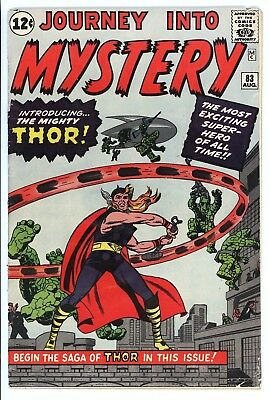 Journey Into Mystery #83 Vol 1 Beautiful Mid Grade 1st Appearance of Thor 1962