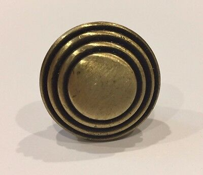 Antique brass cabinet / drawer pulls - knob style - reclaimed stock