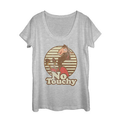 The Emperor's New Groove Kuzco No Touchy Womens Graphic Scoop Neck
