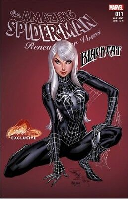 Amazing Spiderman Renew Your Vows 11 J Scott Campbell Black Cat B Variant Nm